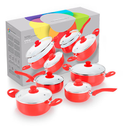 Cookware 8 pieces ceramicchefpan